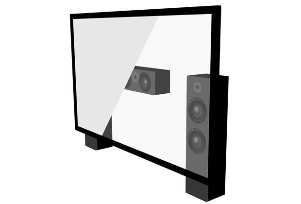Ecran de projection fixe acoustique